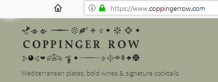 Coppinger Row - a secure website